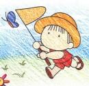 扑蝴蝶简笔画图片教程