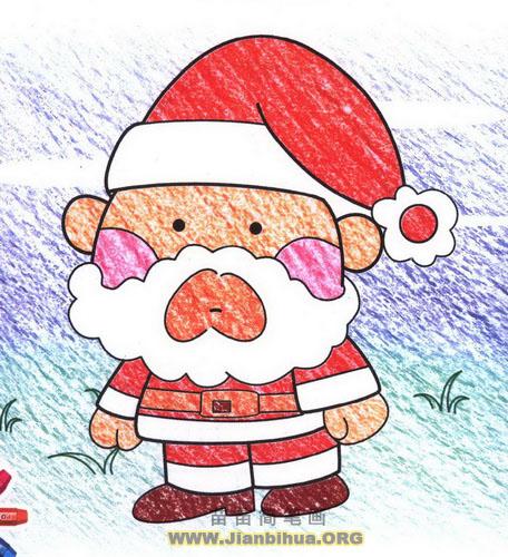 圣诞老人简笔画画法图解