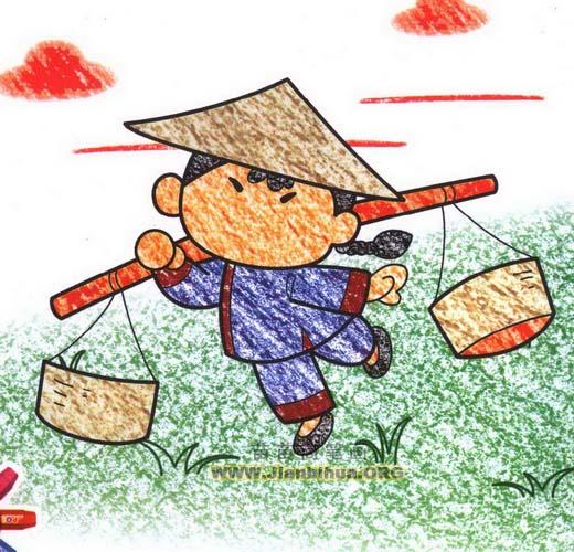 村姑简笔画资料:   一般是指从农村出来的,或者他的行为和