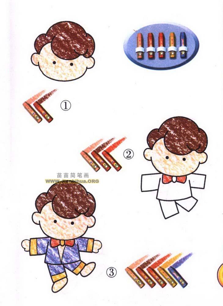 哥哥简笔画图片