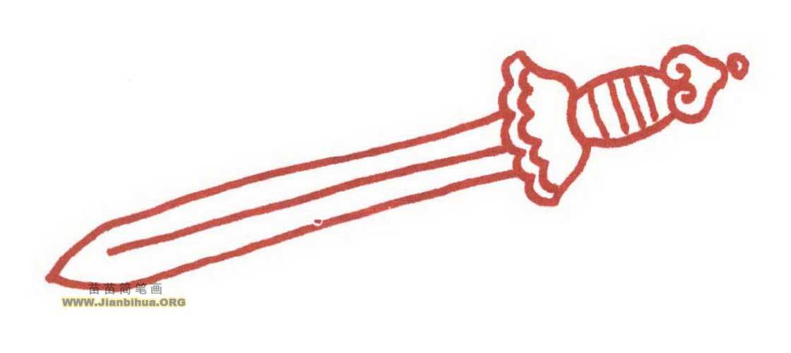 宝剑纹身手绘图片展示