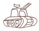 高射炮简笔画教程