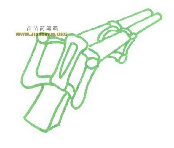 双管冲锋枪简笔画