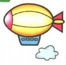 飞艇简笔画图片大全(6个教程)