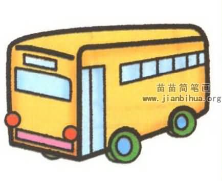 公共汽车简笔画图片大全 6个教程高清图片