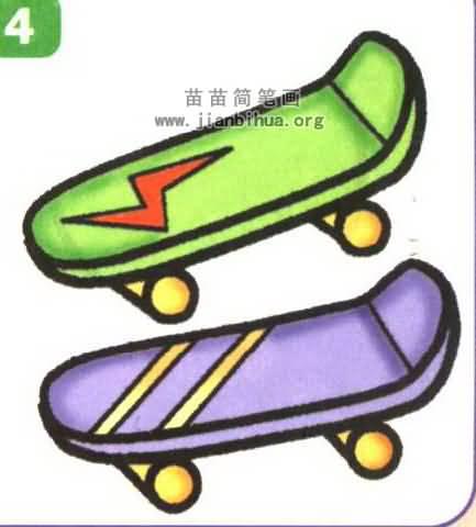 滑板简笔画