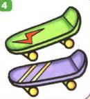 滑板简笔画、资料
