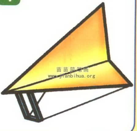 滑翔机简笔画
