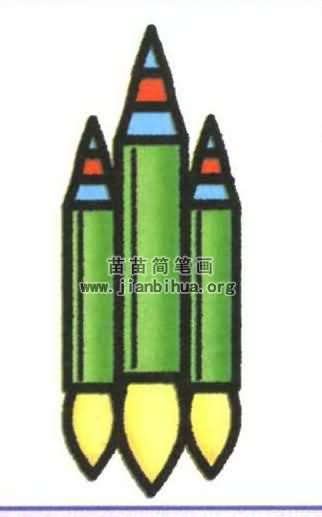 火箭简笔画图片大全 5个教程