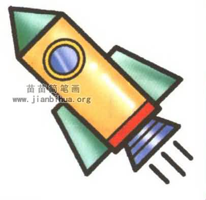 火箭简笔画图片大全(5个教程)