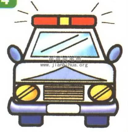 警车简笔画图片大全 5个教程