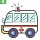 救护车简笔画图片大全(3个教程)