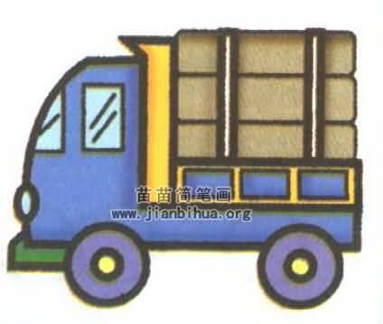卡车简笔画图片大全 9个教程