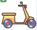 踏板女式摩托车简笔画图片大全(4个教程)
