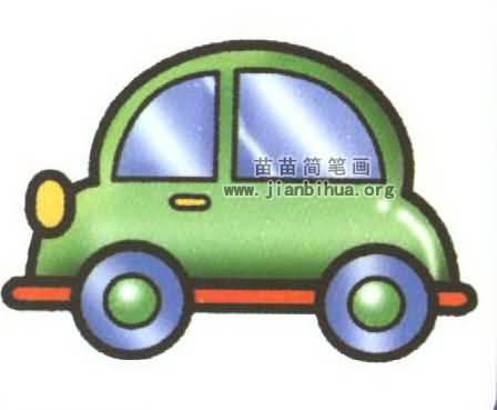 小汽车简笔画图片大全 6个教程高清图片