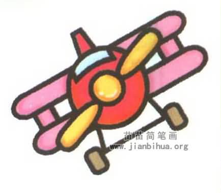 双翼飞机简笔画图片大全(3个教程)