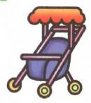婴儿车简笔画图片大全(5个教程)