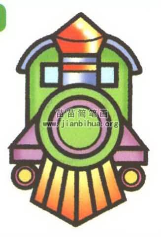 蒸汽火车简笔画图片大全 3个教程