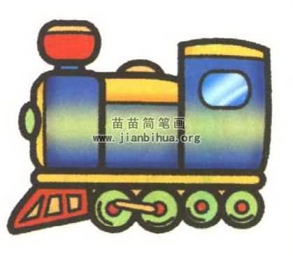 火车5个车厢简笔画图片