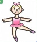 芭蕾舞女演员简笔画大全(3个教程)