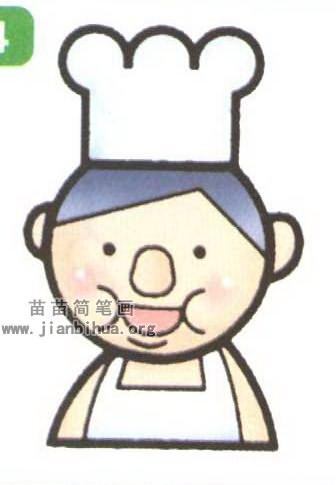 三个小人简笔画_厨师简笔画图片大全(3个教程 .