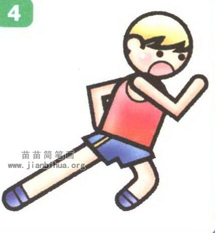 短跑运动员简笔画