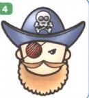 海盗简笔画(2个教程)