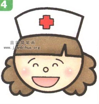 护士头像简笔画_