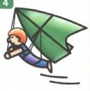 滑翔机运动员简笔画