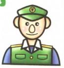 交通警察简笔画图解