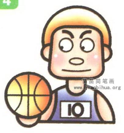 篮球运动员简笔画图解 2个教程