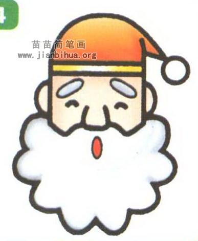 圣诞老人头像简笔画