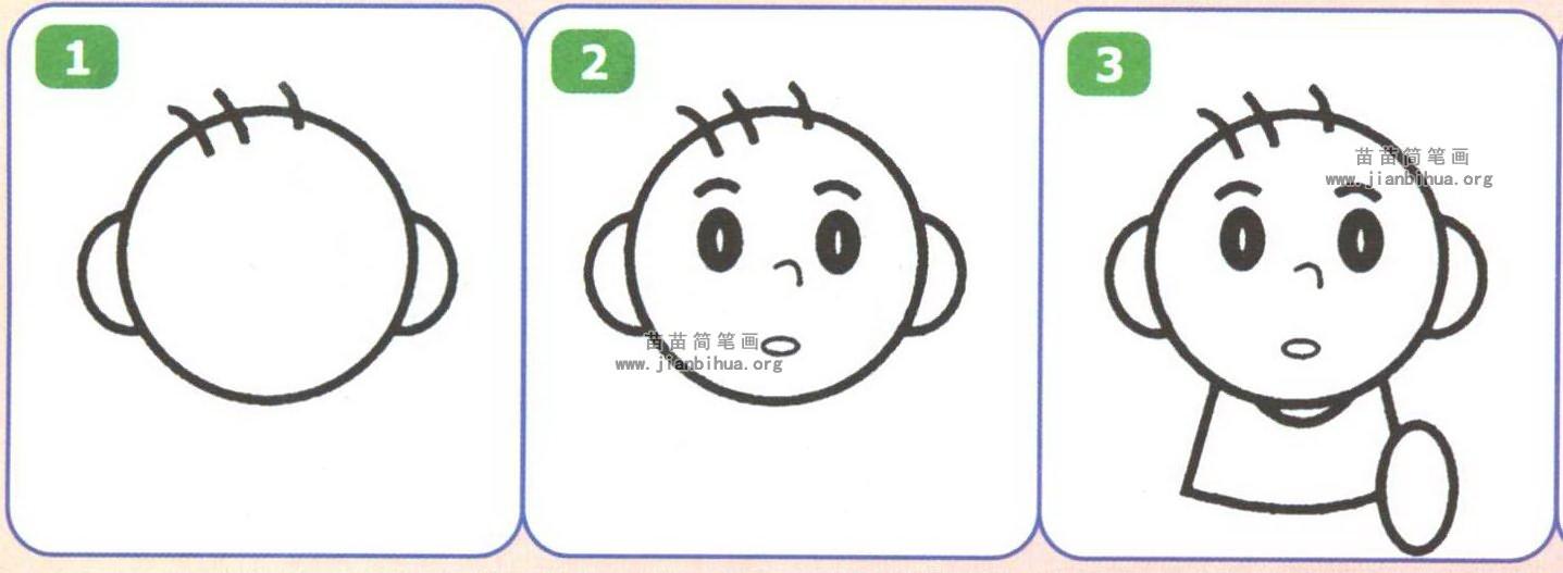 小朋友简笔画如何画图解图片