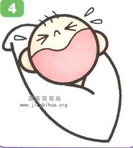 小婴儿简笔画图片大全(5个教程)