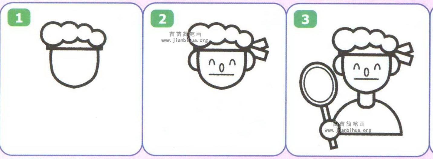 羽毛球运动员简笔画
