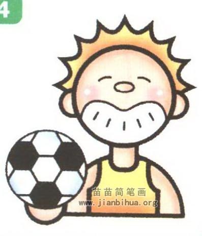 足球运动员简笔画 2个教程