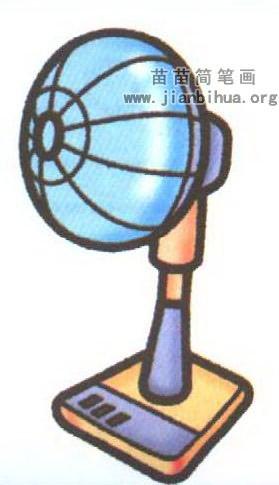 电风扇简笔画图片大全 4个教程