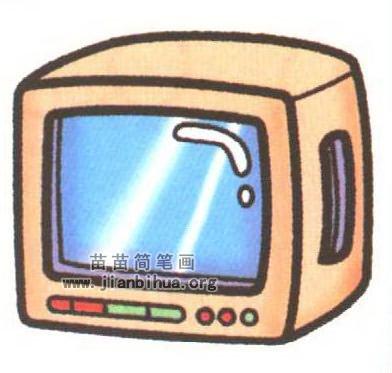 电视简笔画图片大全 4个教程