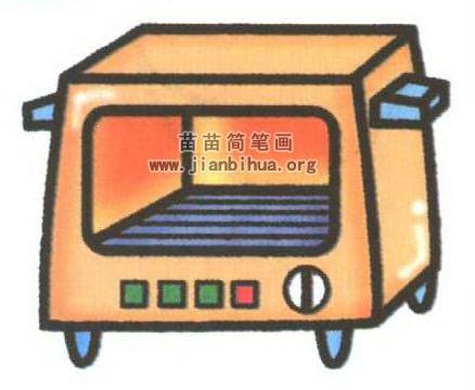 烤箱简笔画