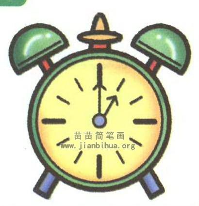 钟表卡通简笔画图片内容图片展示_钟表卡通简笔画图片