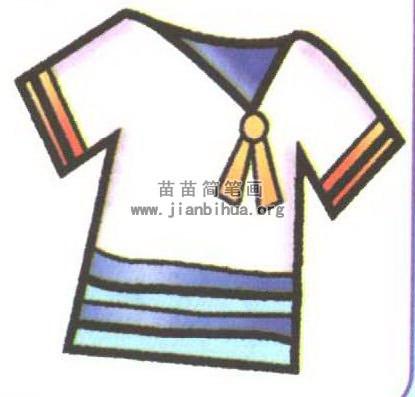 女衬衫简笔画图片图解(2个教程)
