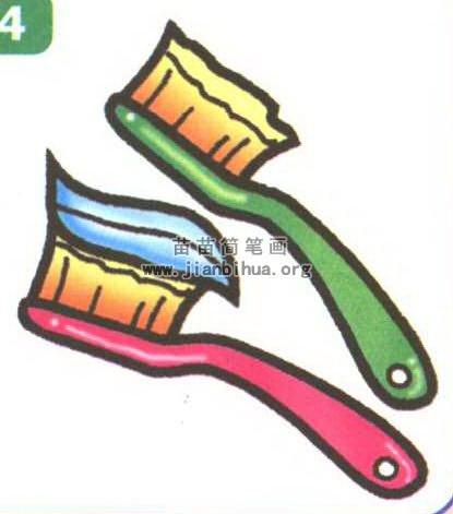 牙刷简笔画图片大全 3个教程