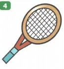 网球拍简笔画画法图解
