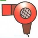 吹风机卡通简笔画教程