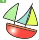 卡通帆船简笔画画法图解