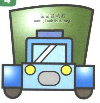 卡通卡車簡筆畫畫法圖解高清圖片