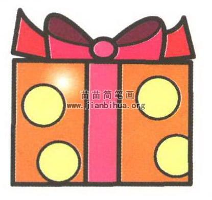 礼物盒简笔画图片大全 2个教程