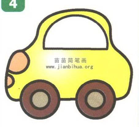 幼儿卡通汽车简笔画 2个教程