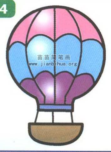 热气球简笔画图片