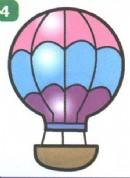 热气球简笔画画法图解